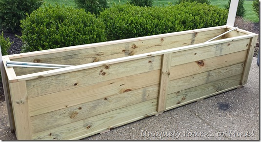 how to build a planter trellis