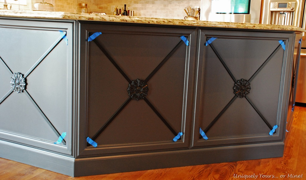 embellishing adding moldings to kitchen island cabinets kitchen island update complete   u2013 uniquely yours u2026 or mine   rh   uniquelyyoursormine com