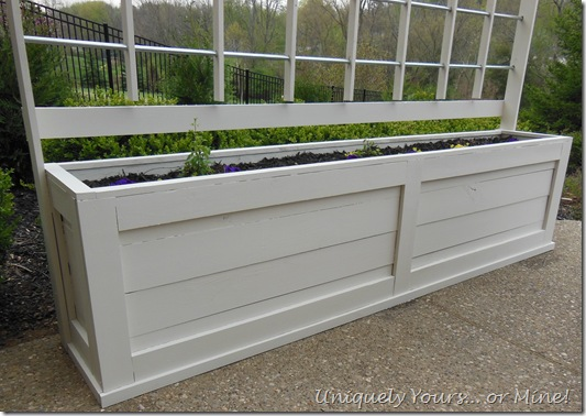 privacy screening with a planter trellis