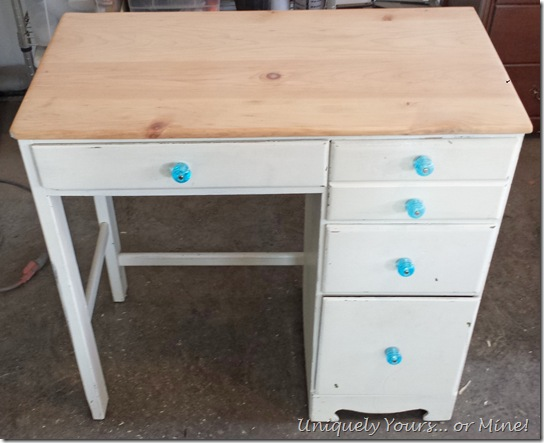 Before childs desk