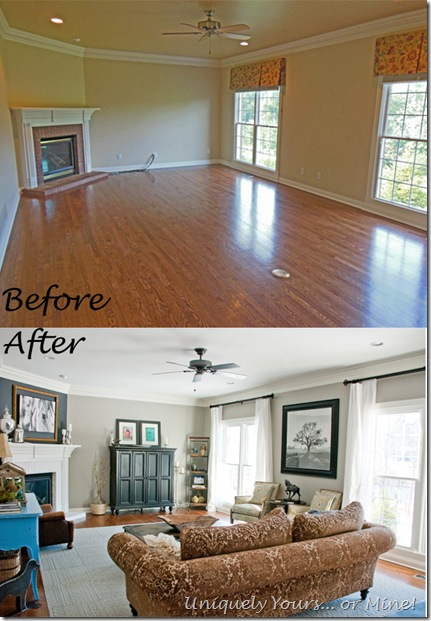 Before & After Family Room Update