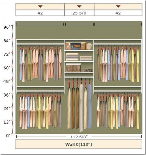 EasyCloset closet layout