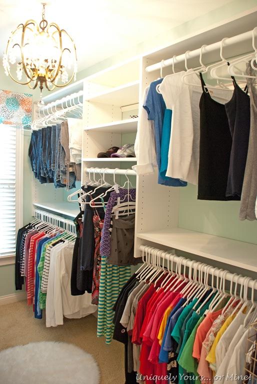 A closet makeover