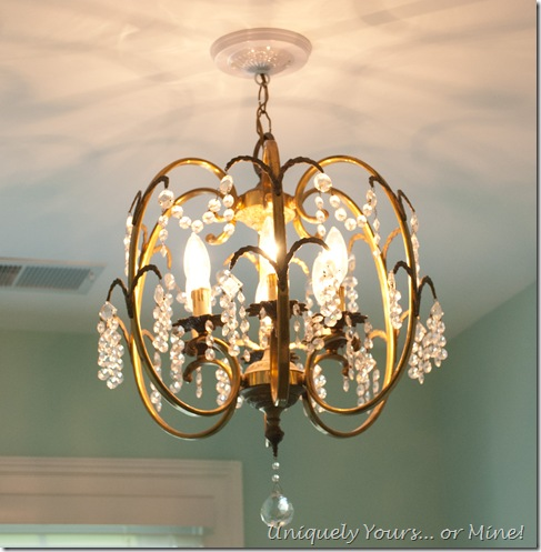 vintage brass chandelier made in Spain