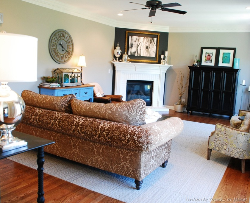 updated family room