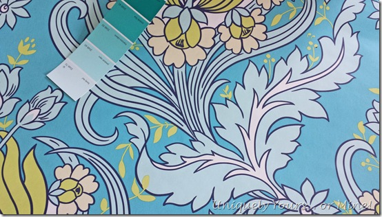 Amy Butler Wallpaper for laundry room