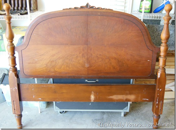 Vintage wood full bed