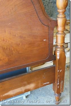 Vintage wood full bed