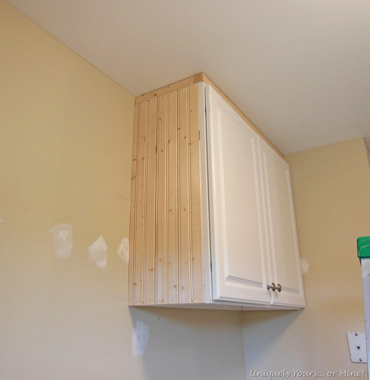 Adding Beadboard To Kitchen Cabinets: Laundry Room Update In Progress