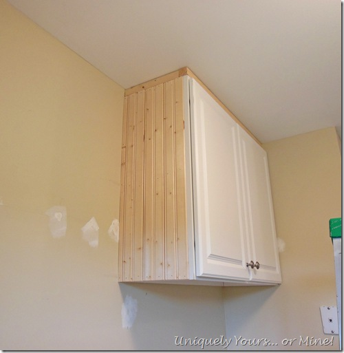Adding molding to embellish cabinet