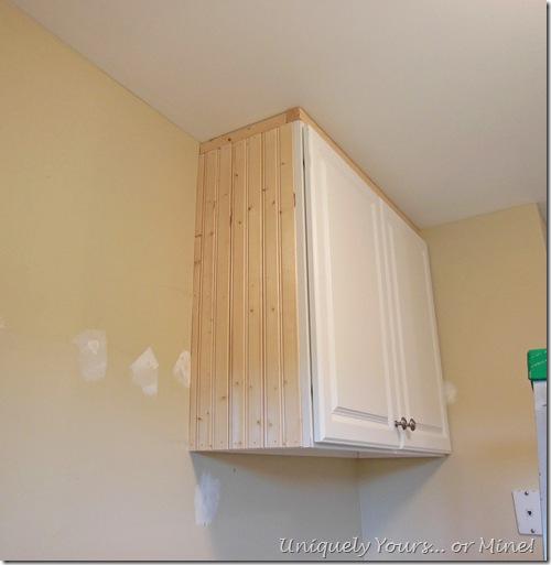 Adding molding to embellish cabinet