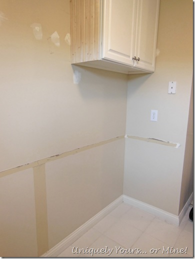 Installing upper cabinet and removing countertops