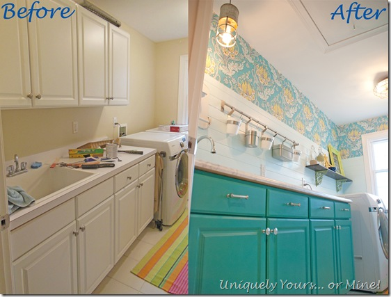 Before and After Laundry Room Makeover