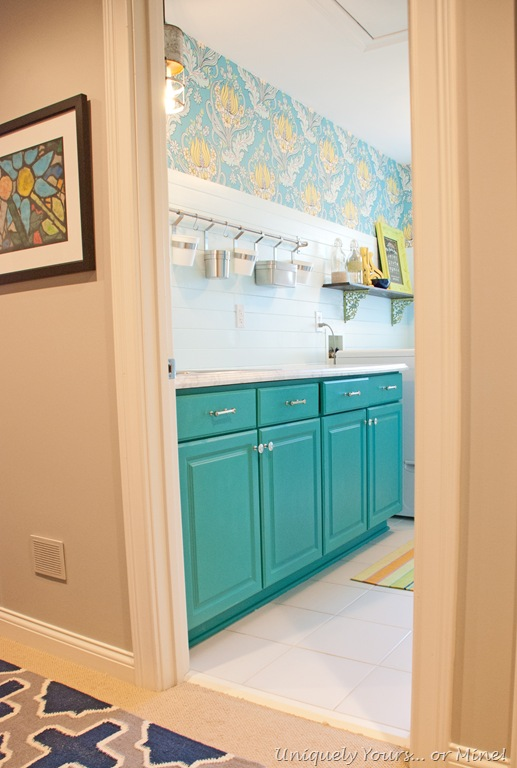 Beautiful Laundry Room Makeover Uniquely Yours Or Mine