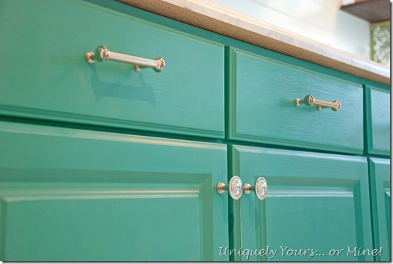 teal painted laundry room cabinets, Annie Sloan Chalk Paint
