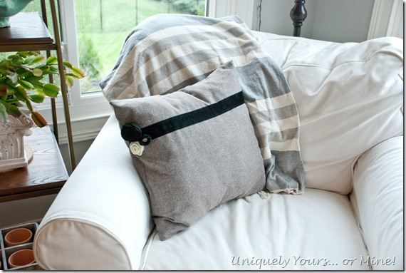 Embellishing pillow covers