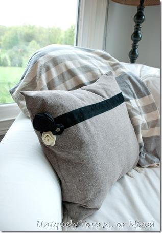Embellishing pillow covers