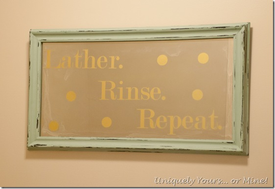 DIY Bathroom Art