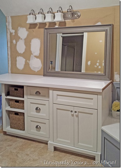 Installing new vanity in master bathroom