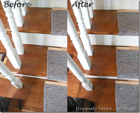 Repairing scratched stair treads