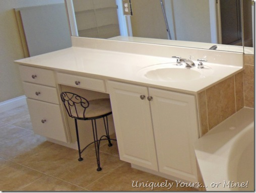 Removing vanity from master bathroom