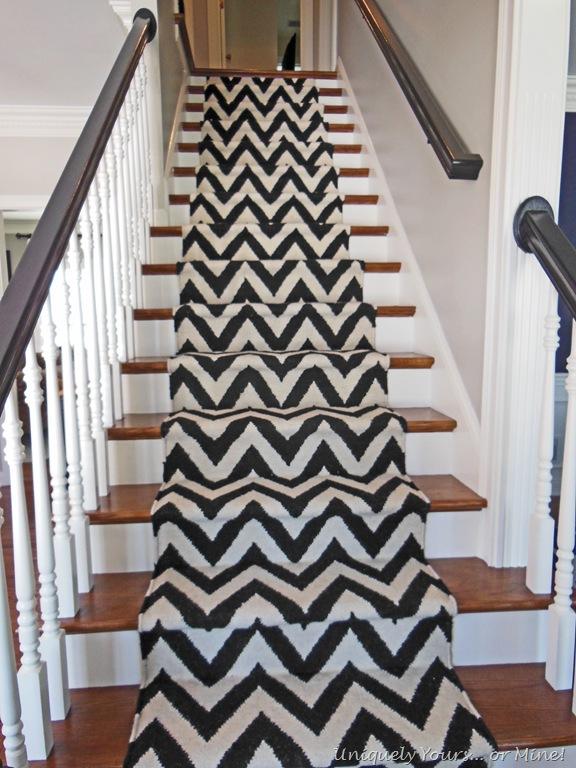 Chevron Print DIY Stair Runner