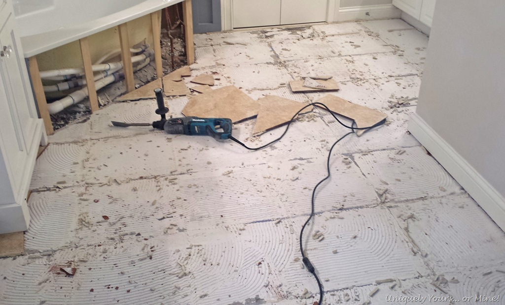 How To Remove Tile Flooring Master Bath Update Part 3 Uniquely