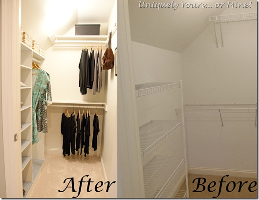 Before and After closet update and remodel