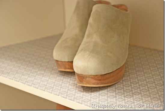 Closet update remodel shelf liner