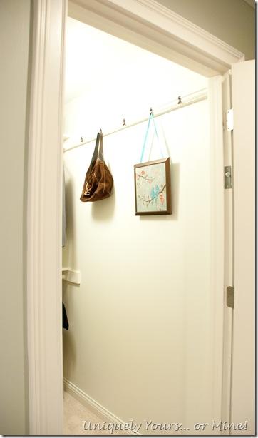 Closet remodel update