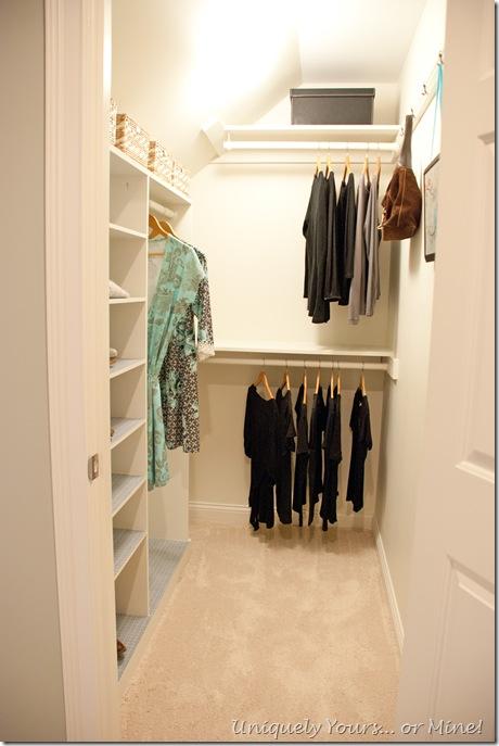 Closet update remodel