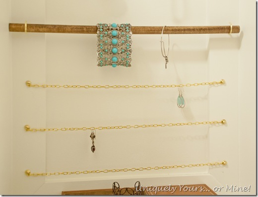 DIY custom closet jewlery display storage