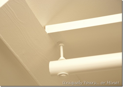 Sloped ceiling closet rod solution