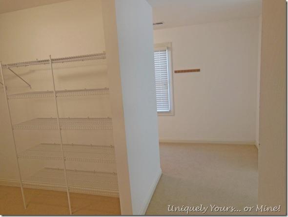 Master closet renovation