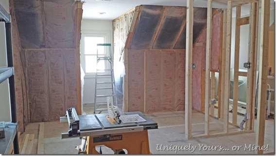 master closet remodel construction phase