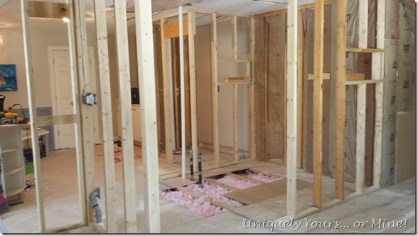 master bathroom remodel construction phase