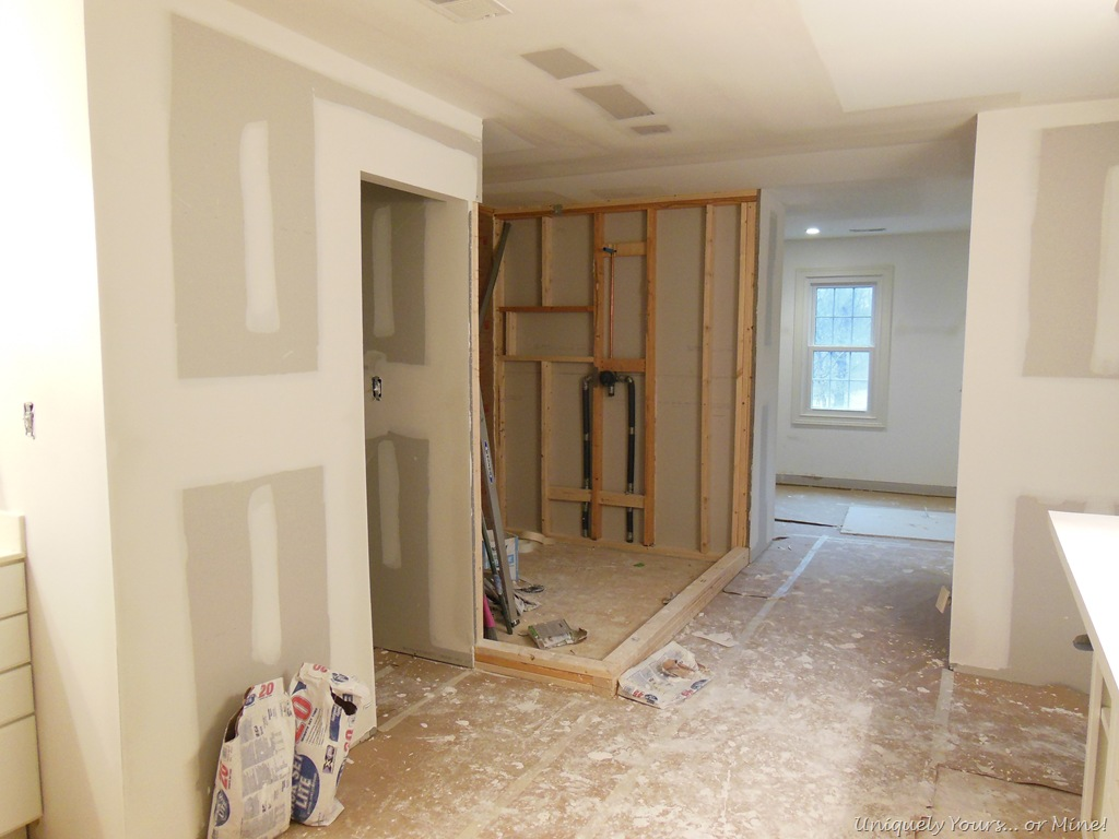 Master bathroom renovation. building a walk in shower   Uniquely Yours    or Mine