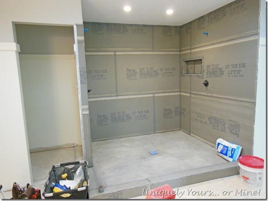Building a walk in master shower