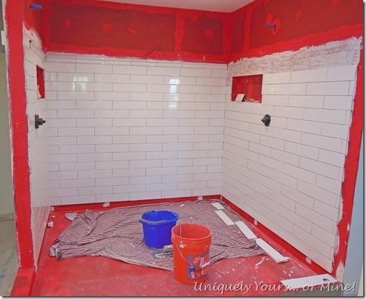 tiling shower master bathroom