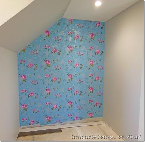 wallpaper focal wall master closet