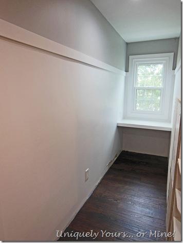 Dormer window vanity makeup area