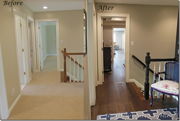 New hardwood flooring installed in hall, bathroom, master bedroom and closet