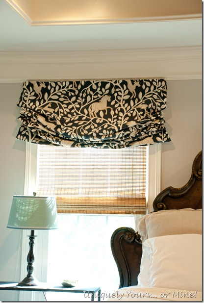 Custom Roman shades Dwell Studio Pantheon