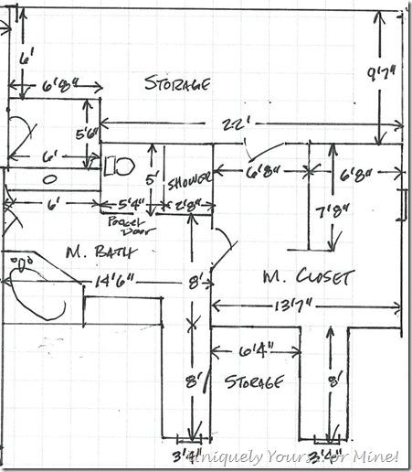 Bathroom and closet plans