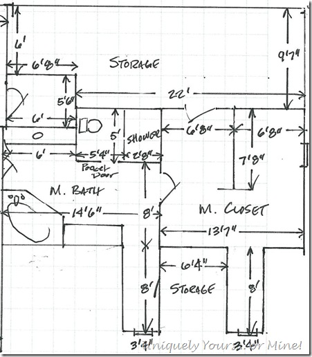 Bathroom and closet plans