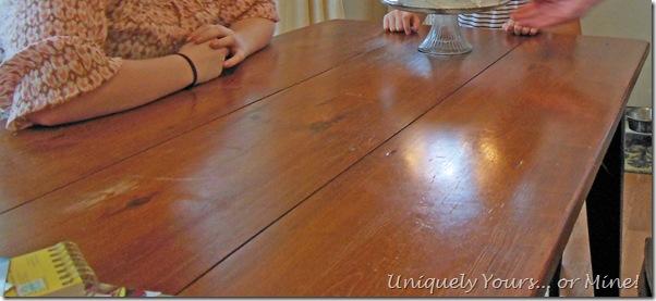 Abused farmhouse table
