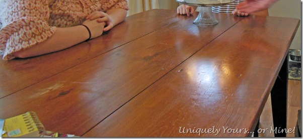 Abused farmhouse table
