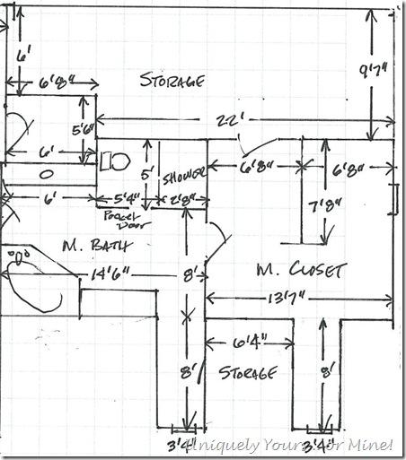 Bathroom closet plans