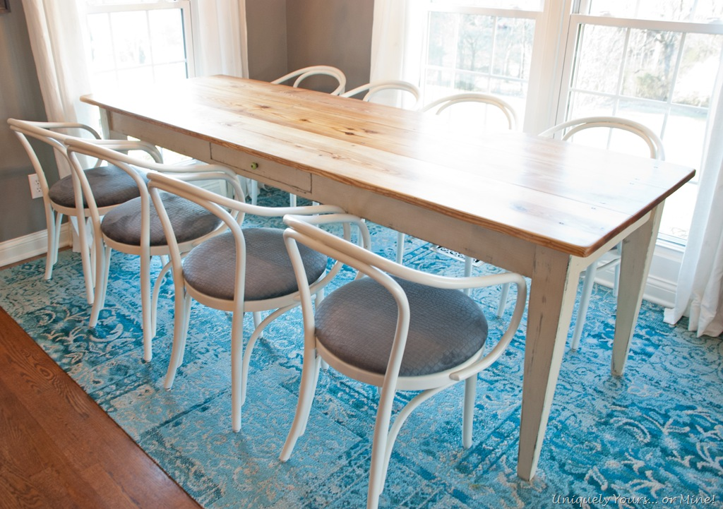 thonet chair set and farmhouse table updated