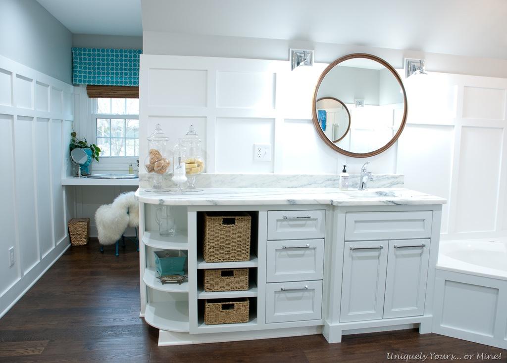 board and batten in bathroom. Black Bedroom Furniture Sets. Home Design Ideas